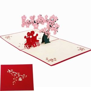 🌸 3D Cherry Blossom Pop-Up Greeting Card 🌸